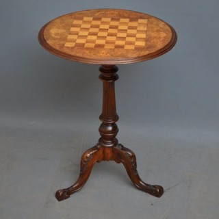 Victorian Games Table in Walnut