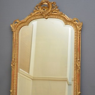 Exceptional XIXth Gilt Mirror