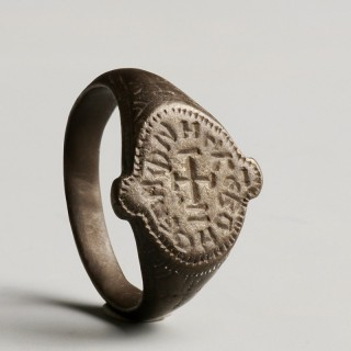 Rare Medieval Crusader's Inscribed Ring