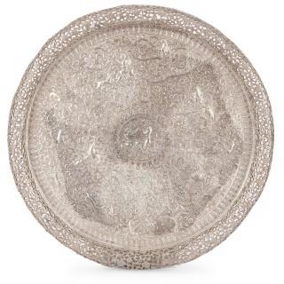 Indian 19th Century four piece silver tea set