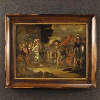 18th Century Flemish Painting David's Triumph
