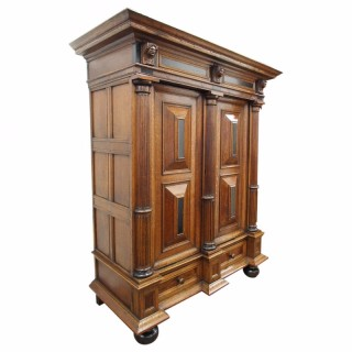 17th Century Dutch Oak Armoire or Cabinet