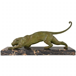 Art Deco sculpture of a panther