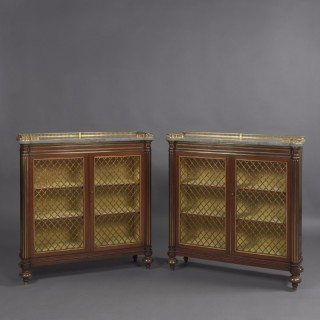 Pair of Regency Dwarf Bookcases In the Manner of George Bullock
