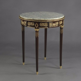 Louis XVI Style Gueridon With A Green Veined Marble Top