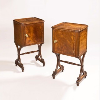 Pair of Regency Period Bedside Cupboards