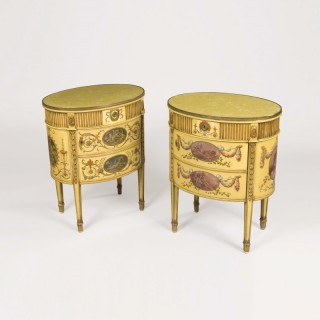 Pair of Painted Commodes in the Neoclassical Style