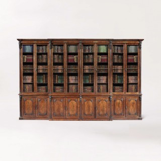 Georgian 8 Door Library Bookcase