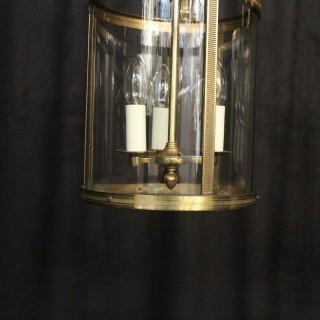 French Pair Triple Light Antique Lanterns