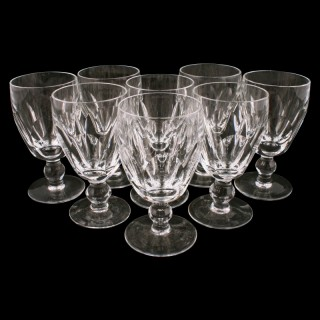 Eight Waterford Crystal Dessert Wine Glasses