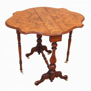 Antique Burr Walnut Baby Sutherland Table
