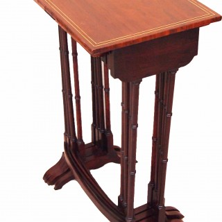 Antique Regency Period Nest Of Four Rosewood Coffee Tables
