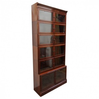 Unusual Tall Mahogany Sectional Bookcase
