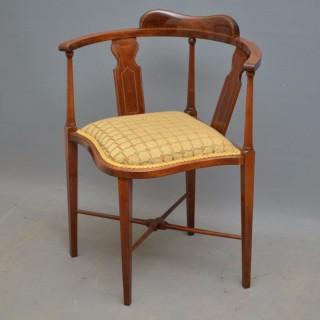 Edwardian Mahogany Corner Chair