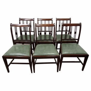 Set of 6 George III Style Mahogany Dining Chairs