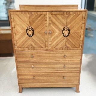 Art Deco Inlaid Cabinet