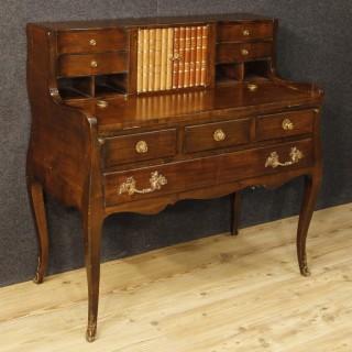 20th Century Dutch Writing Desk In Mahogany Wood