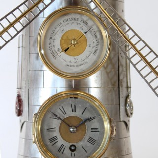 Automaton windmill clock by Guilmet