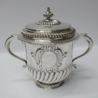 Antique William III Silver Porringer and Cover