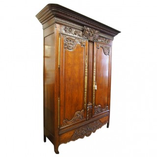 George III French Oak Armoire