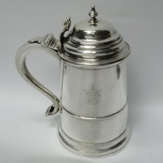 Antique American Silver Tankard