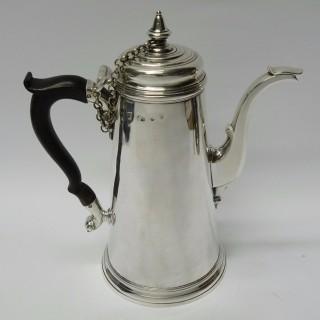 Antique Exeter Silver Chocolate Pot