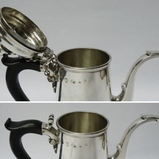 Antique Exeter Silver Chocolate Pot