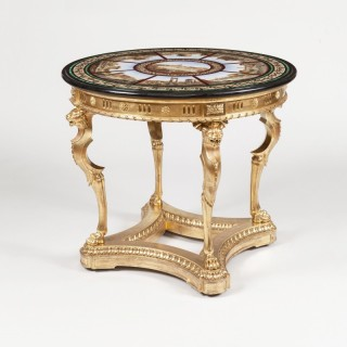 A 'Grand Tour' Micromosaic  Centre Table  The Top in the Manner of Domenico Moglia