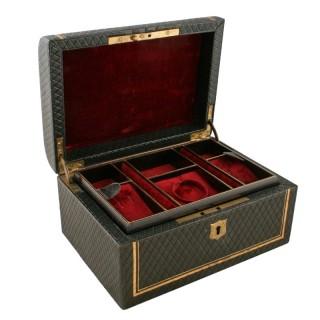 Victorian Leather Jewel Box