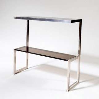An Italian 70s chrome console table