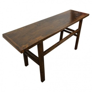 Stained Elm Hall or Serving Table