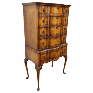 Early Georgian Style Burr Walnut Chest on Stand