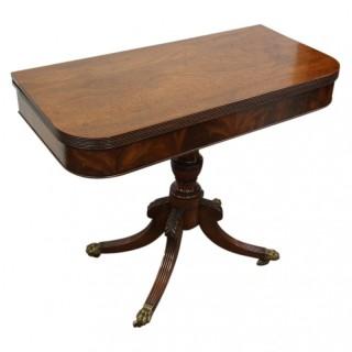 George III Mahogany Fold Over Table
