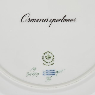 Antique Flora Danica porcelain dinner service from Royal Copenhagen