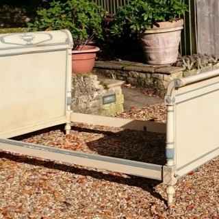 Pair of 19th Century French Painted Beds