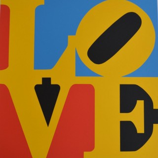 LOVE (Red, blue, yellow, and black)