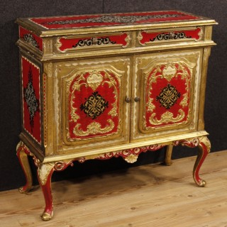 20th Century Florentine Lacquered  Sideboard
