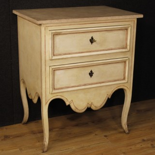 20th Century French Lacquered Dresser With 2 Drawers