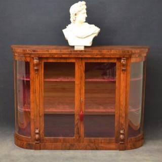 Victorian Walnut Display Cabinet - Credenza