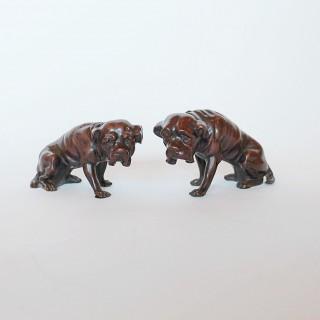 Art Deco Bronze Dogs