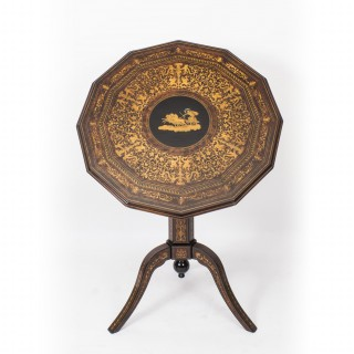 Antique Italian Sorrento Tilt Top Occasional Table c.1830