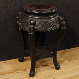 20th Century Side Table In Carved Wood