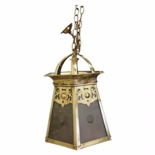 Art Nouveau Hall Lantern