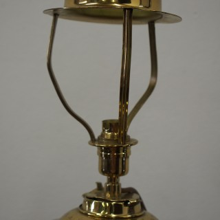 Victorian Brass Oil Lamp