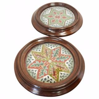 Pair of Mahogany Table Coasters