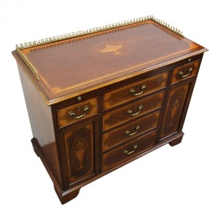 Rare Georgian Inlaid Writing Cabinet