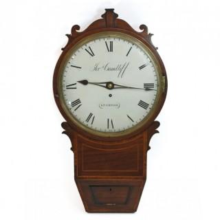 Mahogany Drop Dial Wall Clock, Condliff of Liverpool