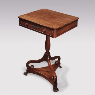 An unusual Regency period faded rosewood Occasional Table.