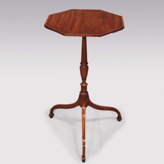 A late 18th Century Sheraton period satinwood Tripod Table.