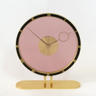 Art Deco Glass and Brass Clock - Kienzle, Germany